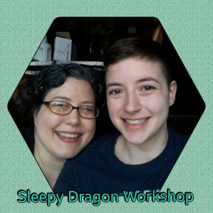 Karen (Mama Dragon) and Kit (Baby Dragon)